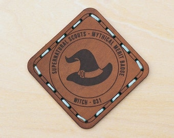 LAST CALL: Witch Leather Merit Badge Patch