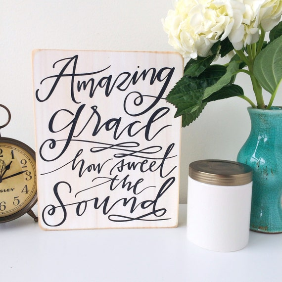 Amazing Home Decor: Wood Sign / Amazing Grace / Home Decor / Wall By