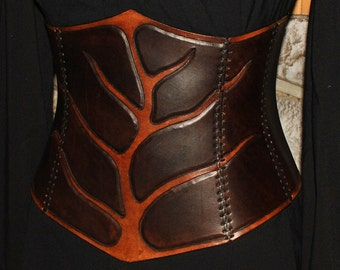 Leather corset LARP corset de cuir