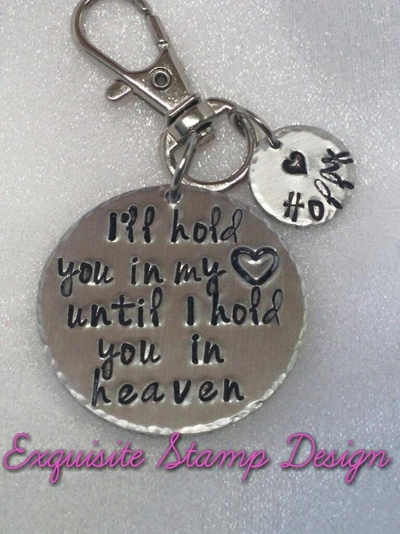 Sympathy Gift - Bereavement Gift - Loss of a Loved One - Remembrance Gift - Sympathy Jewelry - I'll Hold You In My Heart - Personalized Gift