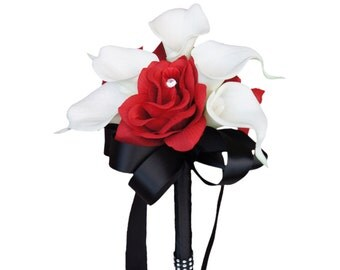 2pc set flower girl bouquet