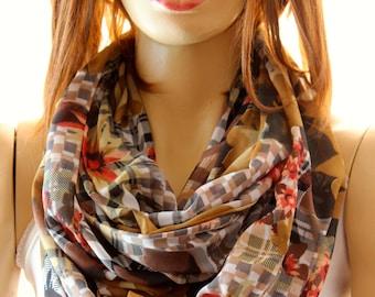 fashion infinity scarf. Loop scarf. Circle scarf. Women Scarf. Gift. accessories, fashion accessories, boho, bohemian, scarves, wraps