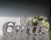 Wedding sign 'Cards' Wedding letters mail box Wedding cards box Glitter finish Very sparkly Glitter colour choice