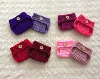 Crochet Newborn Diaper Cover - MADE TO ORDER - Girls
