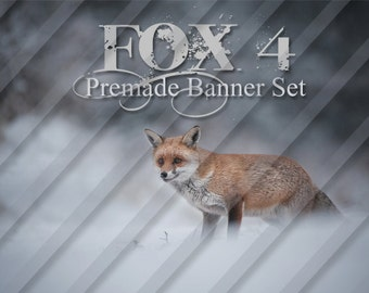 "Shop banner - Shop banner Set - Etsy shop banner set - Graphic banners - Banners - ""Fox 4"""