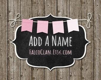 DIY Name banner add-on, name banner, additional name banner, DIY birthday banner