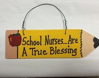 Teacher Gifts Wooden Pencil School Nurses are A True Blessing