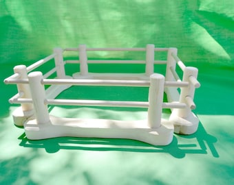 Fence, Set of Four Pieces, Natural Farm Toy