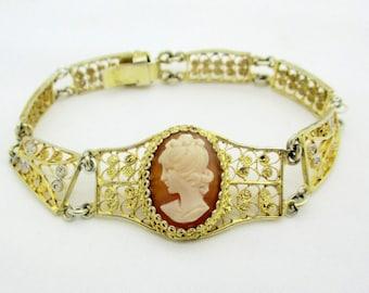 Vintage Ann King Bracelet 18k Gold Sterling By