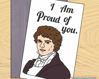 Colin Firth, Mr. Darcy on Pride and Prejudice blank funny pun card