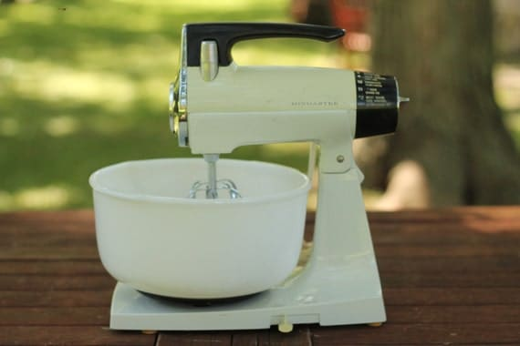 Sunbeam Electric Stand Mixer ~ Vintage sunbeam mixmaster electric stand mixer s kitchen