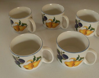 Tabletops Unlimited Essence Set Of Five Souper Mugs