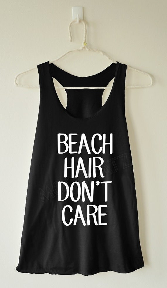 Beach hair don't care shirt funny shirt text shirt by MoodCatz
