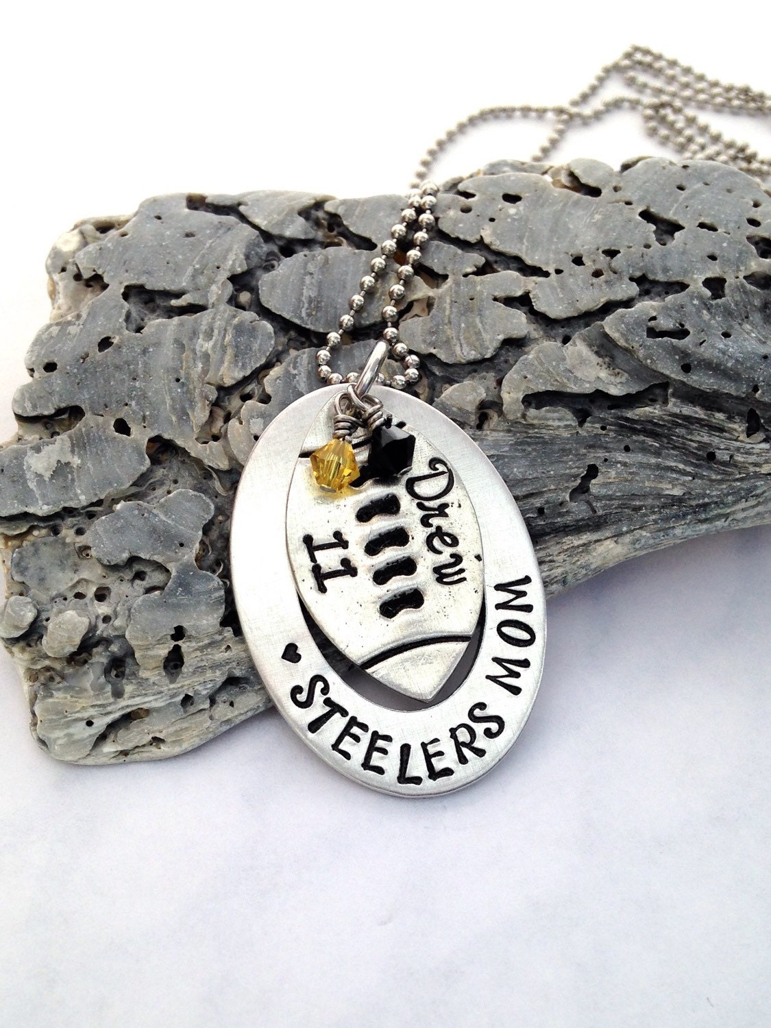 football necklace sports jewelry personalized team