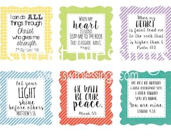Encouragement Scripture Cards Square