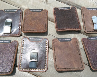 ID and credit card wallet with money clip