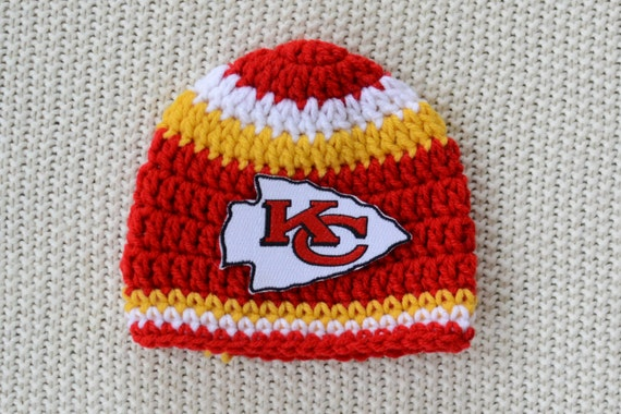 Items similar to Kansas City Chiefs inspired crochet hat ...