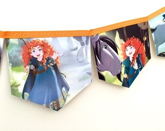 BRAVE Bunting Banner - Childrens Room Nursery Decor Party Decoration Story Book