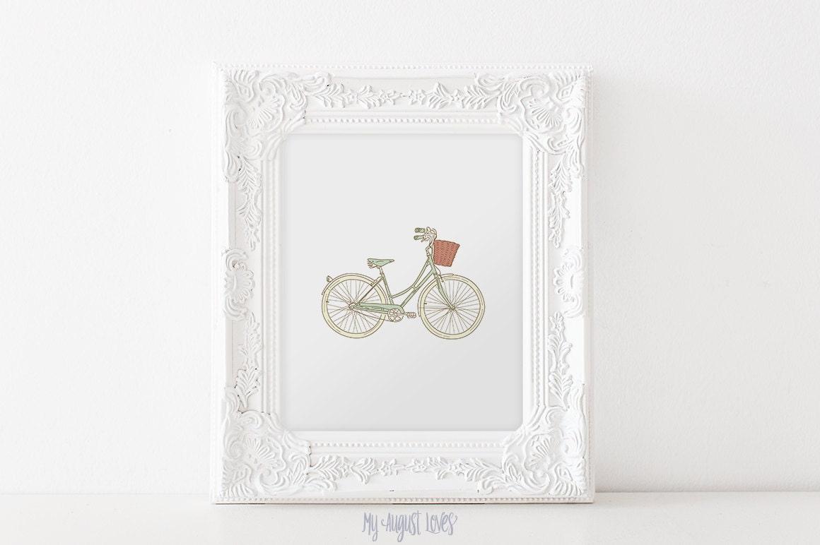 Vintage Wall Decor Nursery : Vintage bicycle wall art nursery decor by