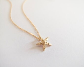 Gold Starfish Necklace - Everyday Jewelry