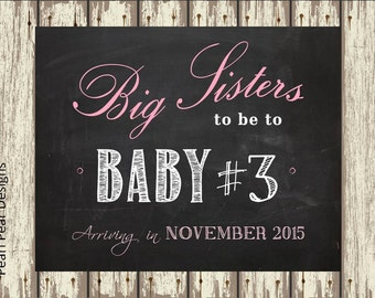 Big brother/sister pregnancy chalkboard sign - printable file 8x10