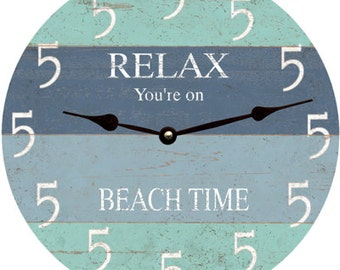 Five O Clock Somewhere Beach Clock- Wall Clock