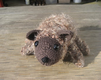 Hand Knitted Wombat (23)(24)