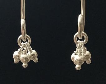 Earrings: Long Triple Tassel Bangles!