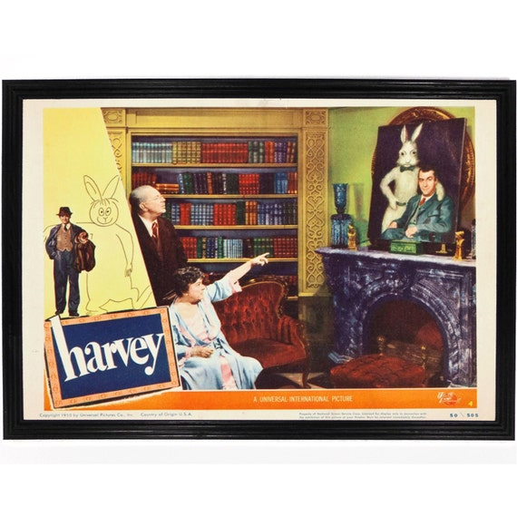 Harvey The Rabbit Print Jimmy Stewart Lobby by FalstaffTrading