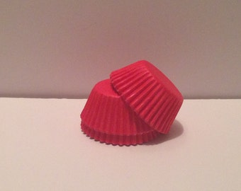 Mini Red Grease Resistant cupcake liners/baking cups- 50 count