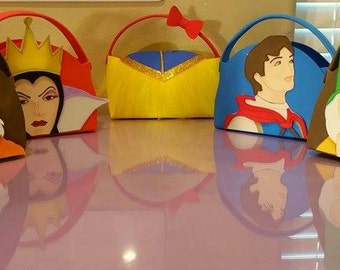 Snow White Party Favor Bags Goody Bags( Set 17)