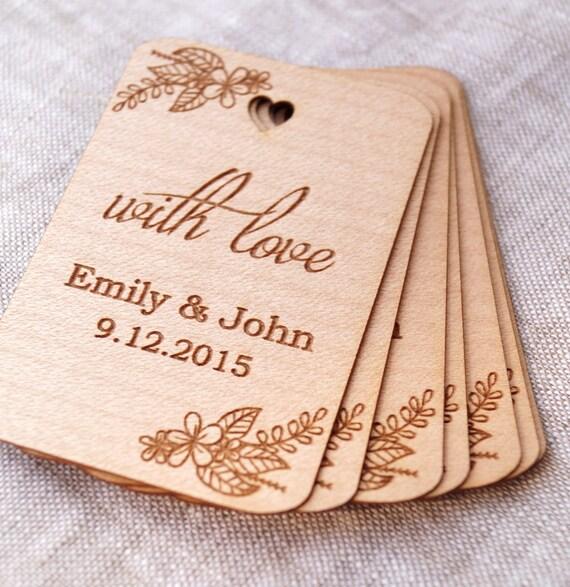 Rustic Wedding Gift Tags : Wedding favor tags, With Love wedding favor tags, rustic gift tags ...