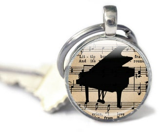 Small Music Gifts - Music Keyrings - Pianist Gifts