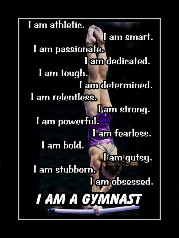 items similar to gymnastics motivation i am a gymnast