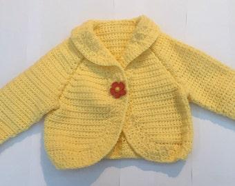 Lemon Baby Girl Cardigan