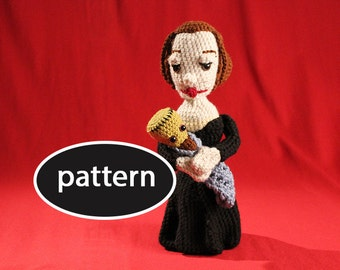 Pattern for Mary Shelley Ami with Frankenstein Baby