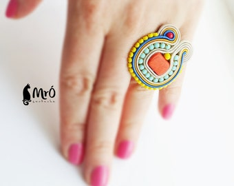 Etnic Soutache Ring !!! anello soutache, anneau soutache, リング, soutache ringen