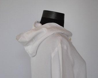 Vintage TRUSARDI hooded linen shirt ....