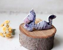 Whimsical animal art jewelry one of a kind Free shipping Zebra brooch pin Zebra jewelry animal brooch animal jewelry gifts under 25(0124)