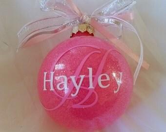 Custom Ornament, Handmade Ornament, Christmas Decor, Vinyl Ornament, Monogrammed Ornament, Holiday Decor, Christmas Gift, Personalized Gift
