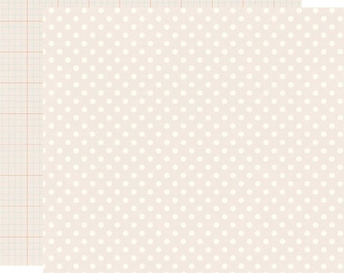 2 Sheets of Echo Park Paper DOTS & STRIPES Neutrals 12x12 Scrapbook Paper - Cream (DS15020)