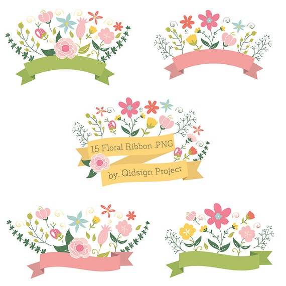 clipart floral banner - photo #29