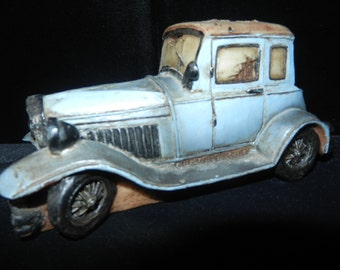 Vintage Molded Car - Hand Painted