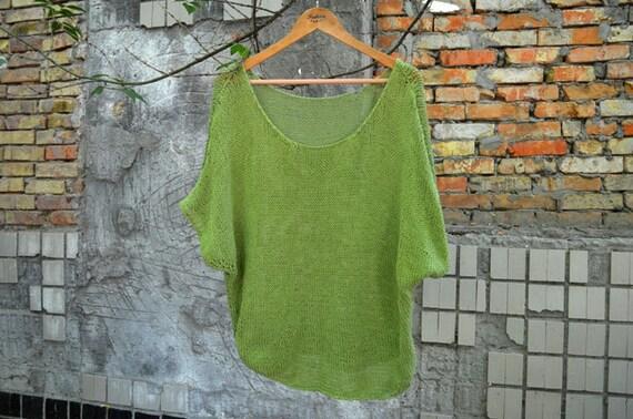 Green Handknit Sweater 65