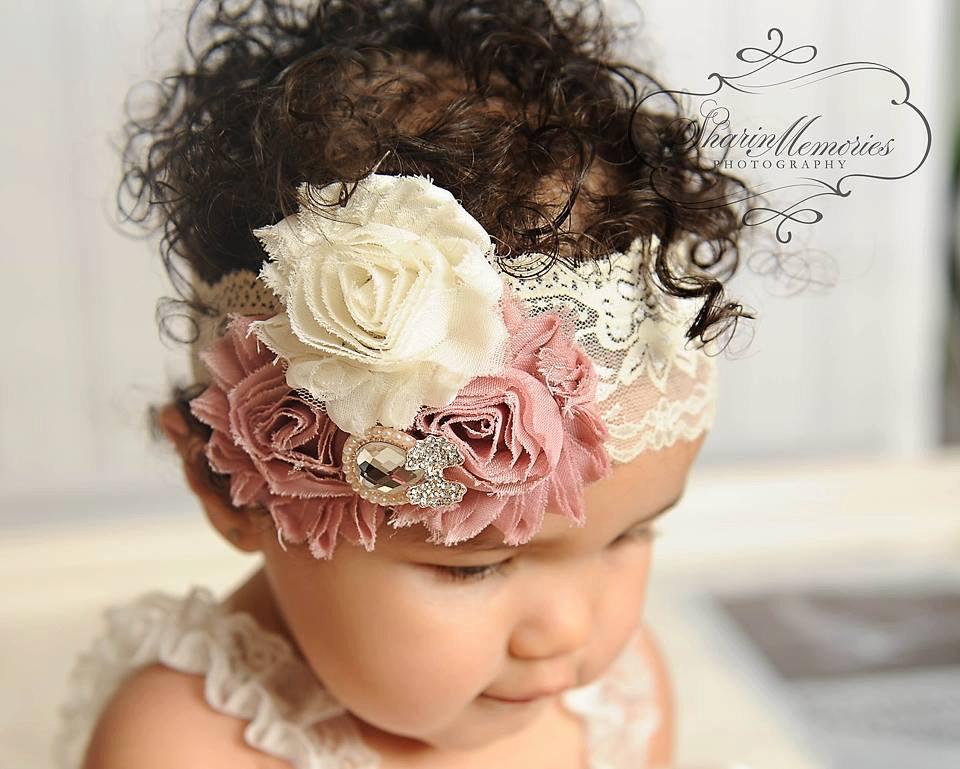Dusty Rose Headband Baby Headband Baby Girl Hair