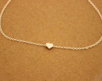 Gold version available, Tiny heart Anklet, Delicate anklet, thin gold anklet, ankle bracelet, dainty anklet, bridesmaid gift, summer, beach