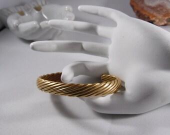 Brass Woven Cuff Bracelet
