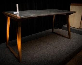 Concrete desk table