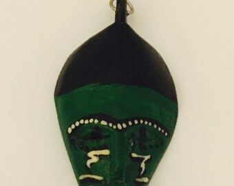 African Tribal Mask Key Chain from Kenya