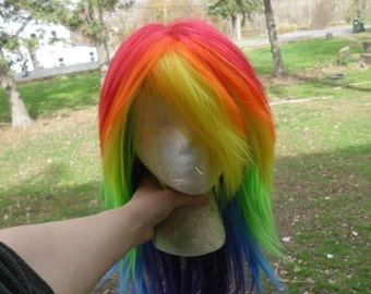 Rainbow Wig, Rainbow Dash wig, MLP, Cosplay, Rainbow Stright